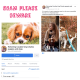 Facebook scam page